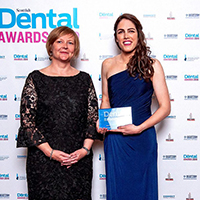 Inverness dentist smiling from ear to ear after being crowned Scotland's Young Dentist of the Year